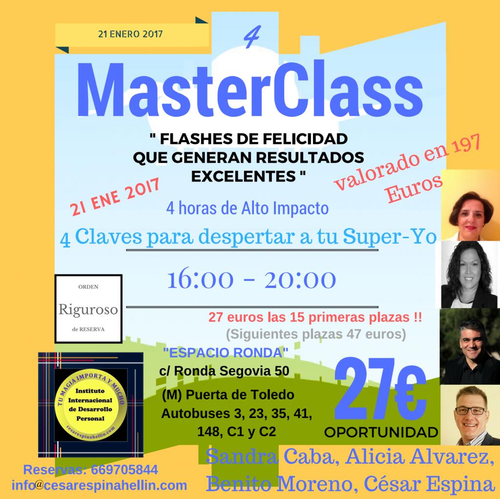 """MasterClass """"Flashes de Felicidad que generan Resultados Excelentes"""""""