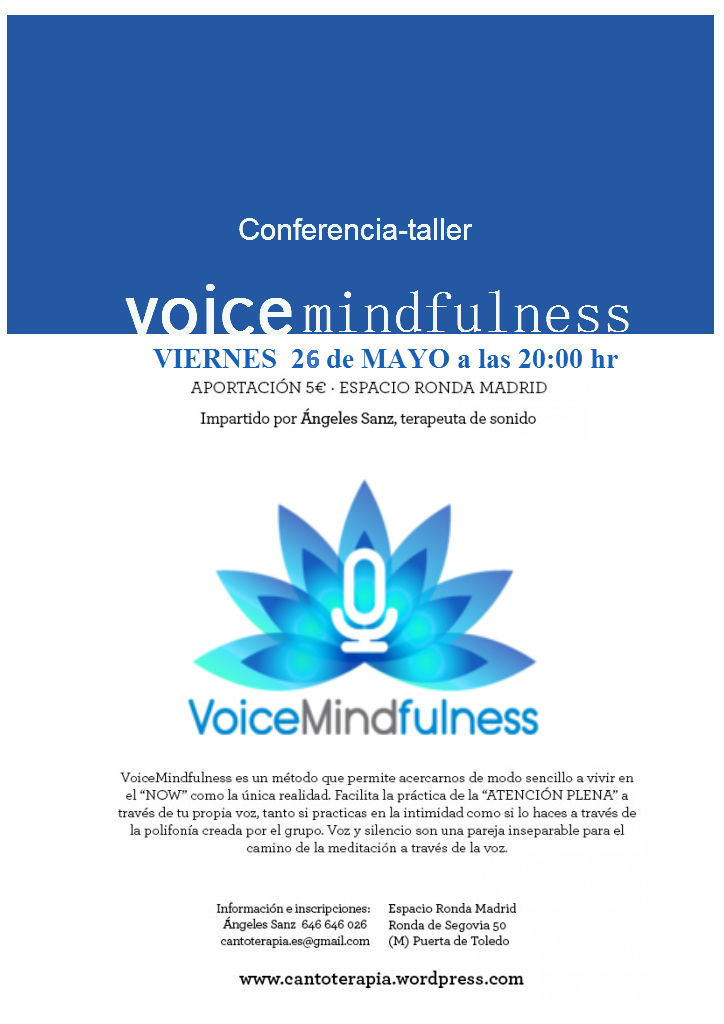 Taller-conferencia VoiceMindfulness