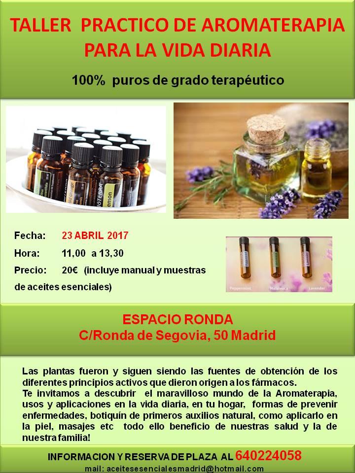 Taller Aromaterapia en la vida diaria
