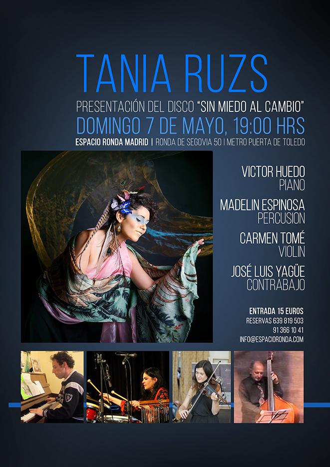 """Tania Ruzs: Presentación del disco """"Sin miedo al cambio"""""""