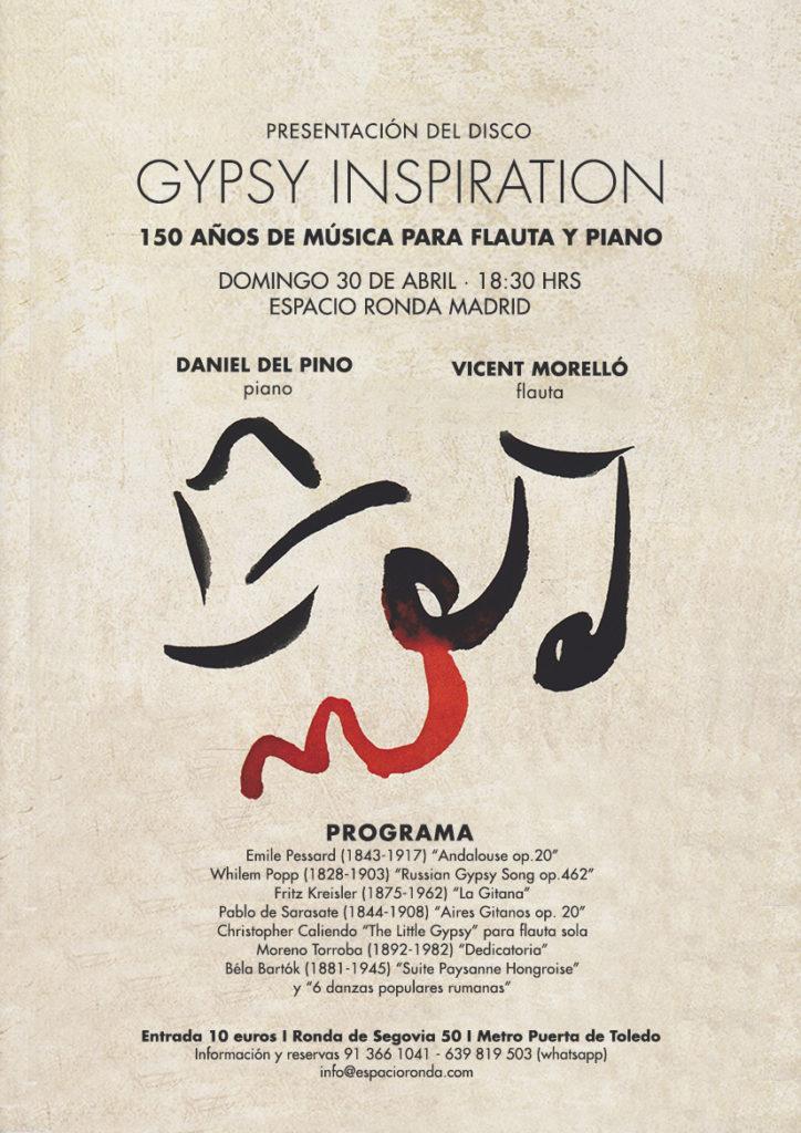 GYPSY INSPIRATION: 150 años de música para flauta y piano