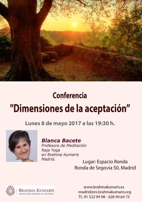 """Conferencia """"Dimensiones de la aceptación"""""""