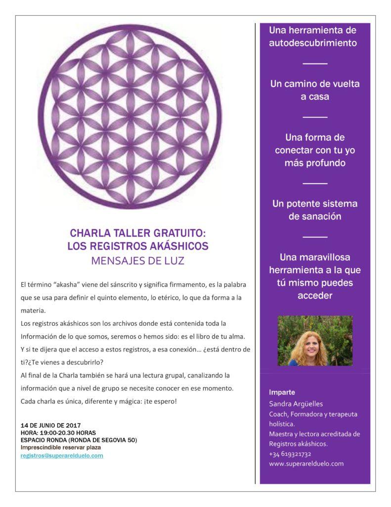 """Charla Taller Gratuito: Los Registros Akáshicos """"Mensajes de Luz"""""""