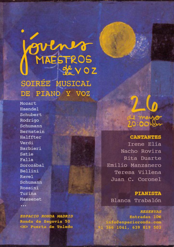 """""""Jóvenes Maestros de la Voz"""" Soirée Musical de Piano y Voz"""