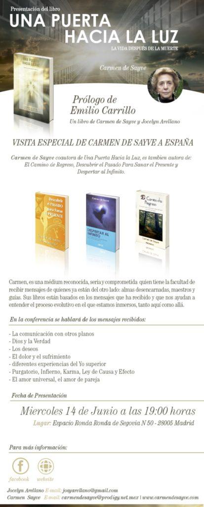 """Presentación del libro """"Una puerta hacia la luz"""""""