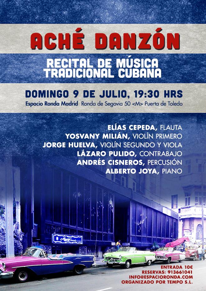 """""""Aché Danzón"""" Recital de música tradicional Cubana"""