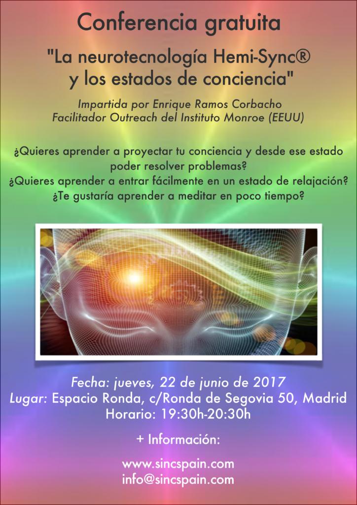 """Conferencia gratuita """"La neurotecnología Hemi-Sync® y los estados de conciencia"""""""