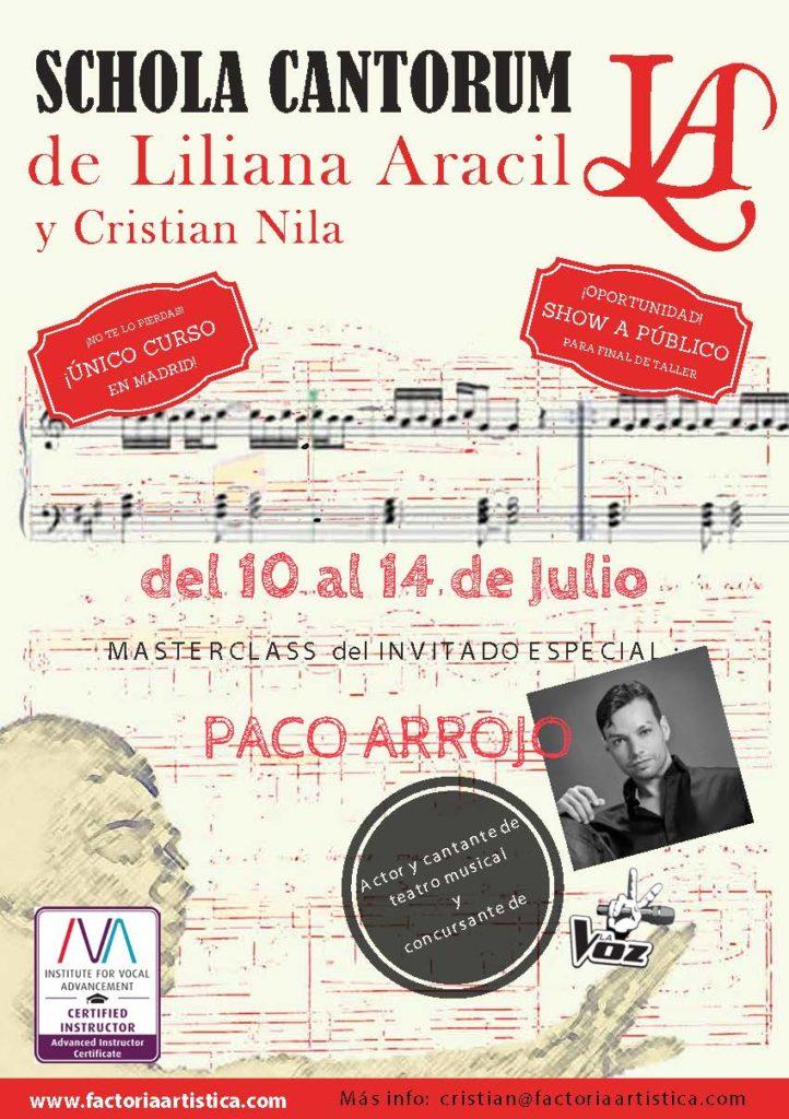 Masterclass de la SCHOLA CANTORUM de Liliana Aracil