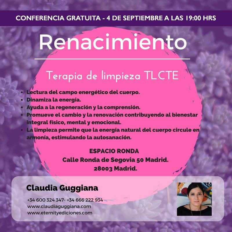 """Presentación de la """"Terapia Renacimiento"""" de Claudia Guggiana"""