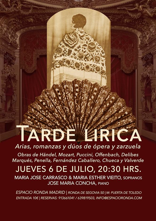 Tarde lírica: Arias, romanzas y dúos de ópera y zarzuela
