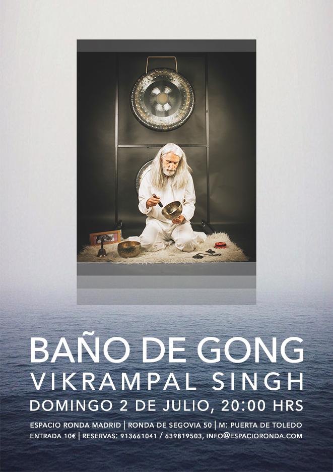 """""""Baño de gong"""" Un concierto de gongs con Vikrampal Singh"""