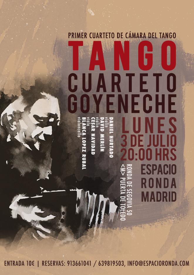 Tango: Goyeneche String Quartet @ Espacio Ronda Madrid