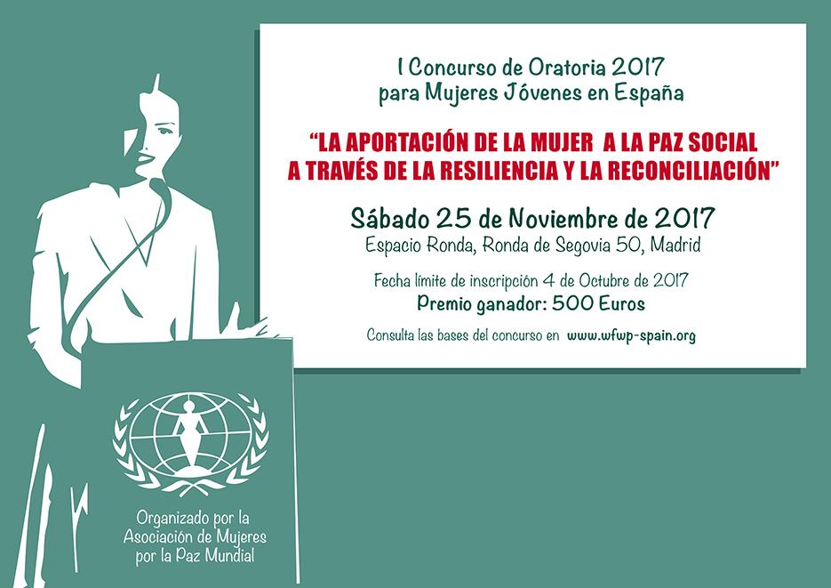 Convocatoria del I Concurso de Oratoria para Mujeres Jóvenes