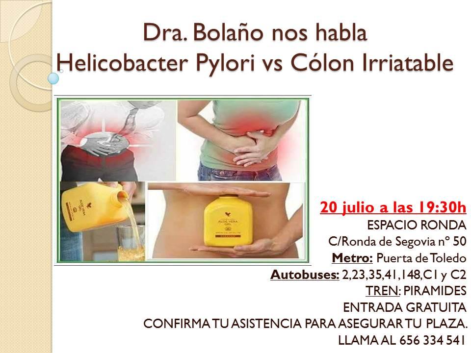 Dra. Bolaño nos habla Helicobacter Pylori vs Cólon Irritable