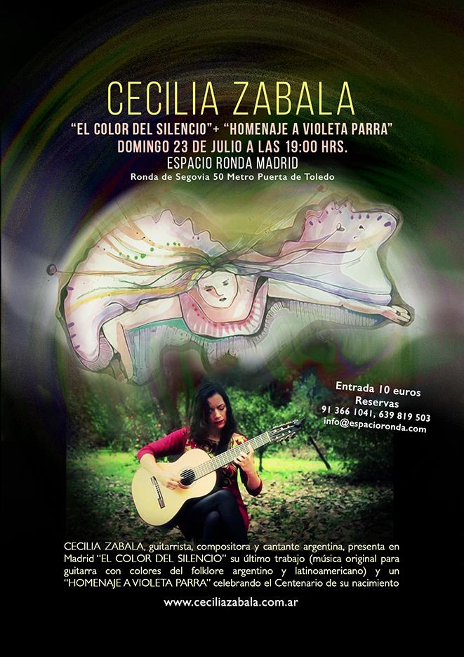 Cecilia Zabala en Madrid