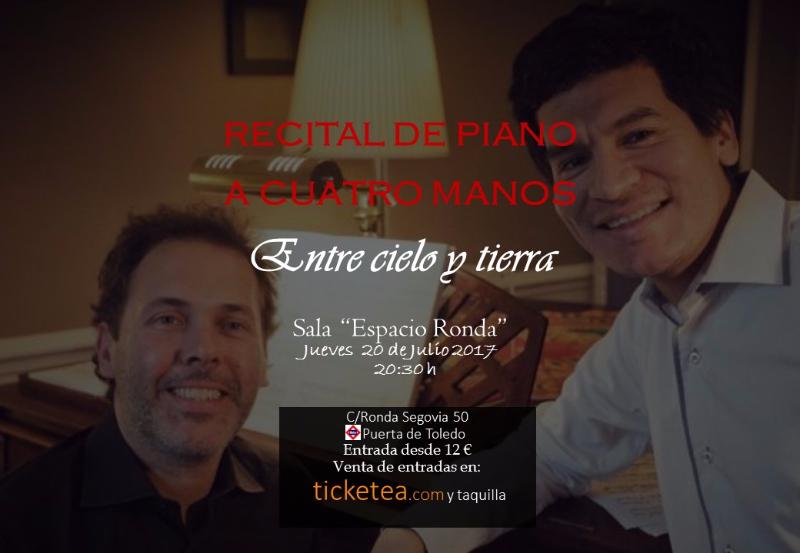 Entre cielo y tierra. Recital de piano a cuatro manos