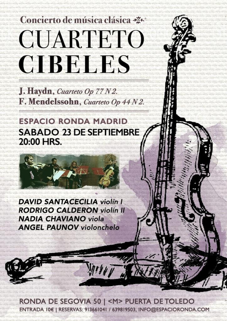 """Cuarteto Cibeles""""  Concierto de música clásica"""