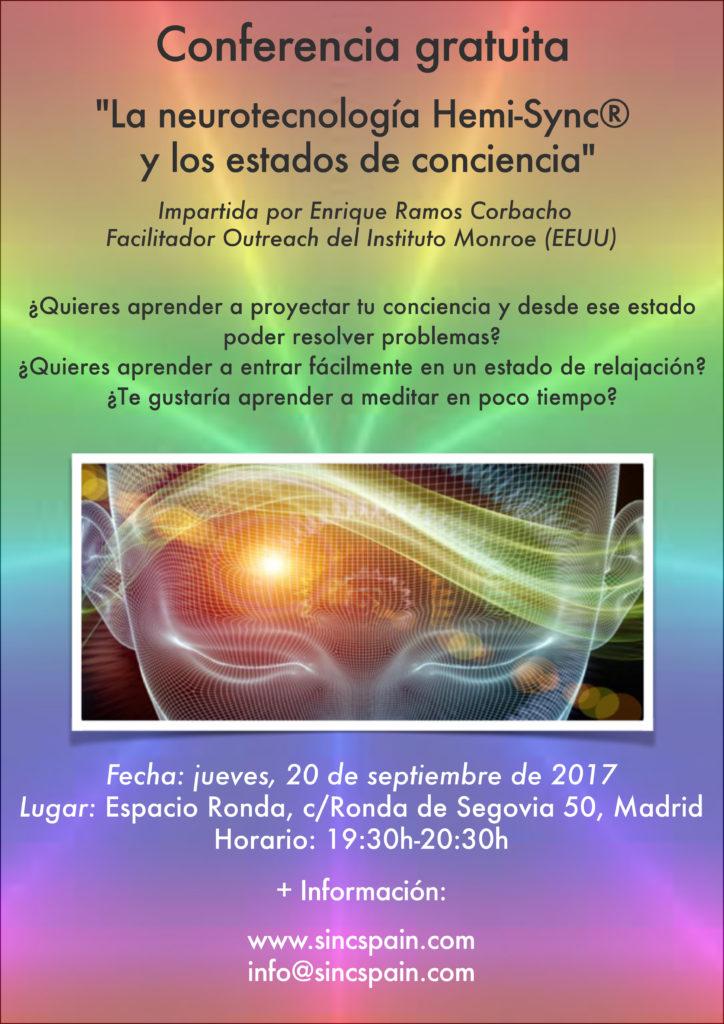 """Conferencia """"La Neutorecnología Hemi-Sync® y sus Aplicaciones sobre la Conciencia"""""""