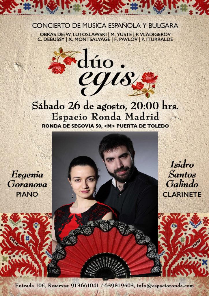 """""""Dúo Egis"""" Concierto de música Española y Búlgara"""
