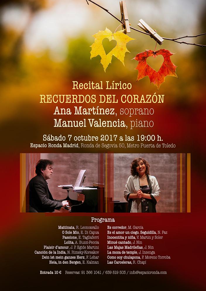 """Recital Lírico """"Recuerdos del Corazón"""""""