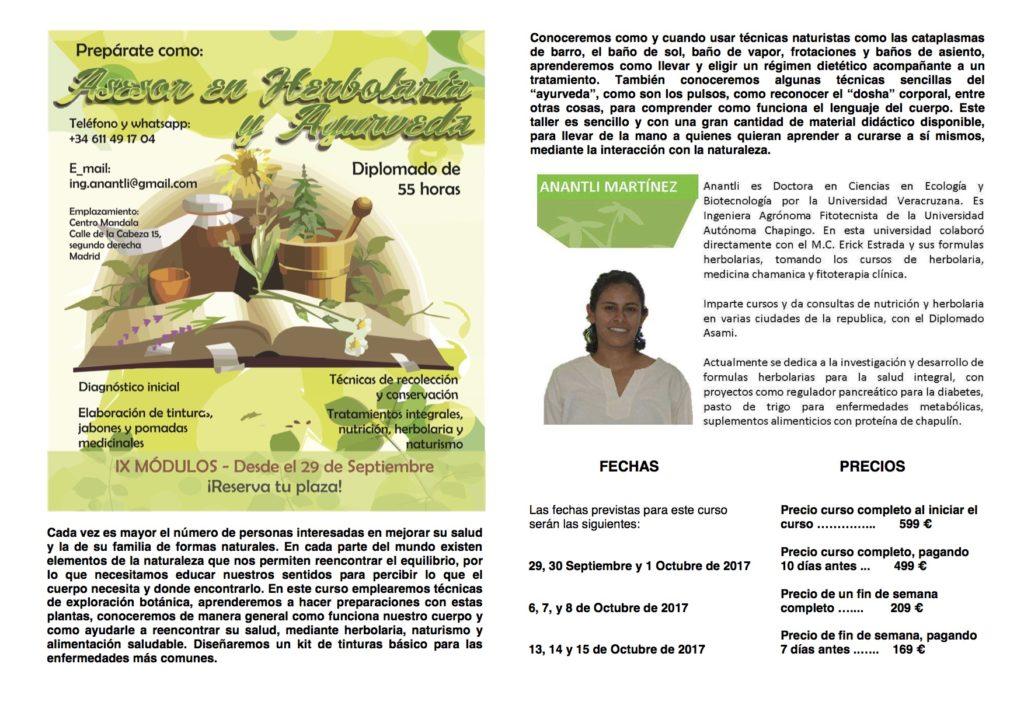 """Presentacion del curso """"Prepárate como: Asesor en Herboristería y Ayurveda"""""""