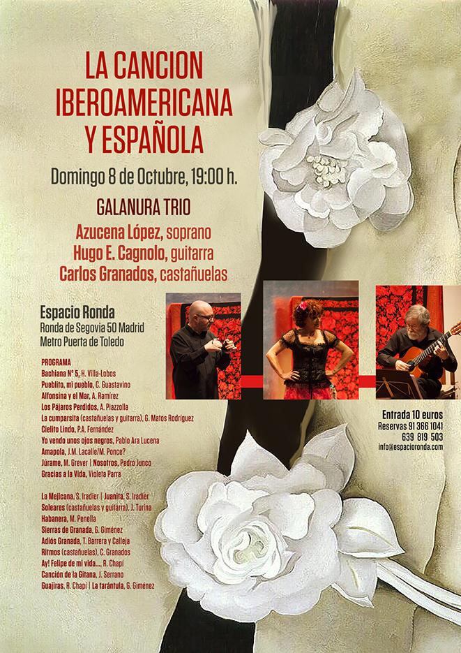 """""""La Canción Iberoamericana y Española"""" Un concierto de GALANURA TRÍO"""