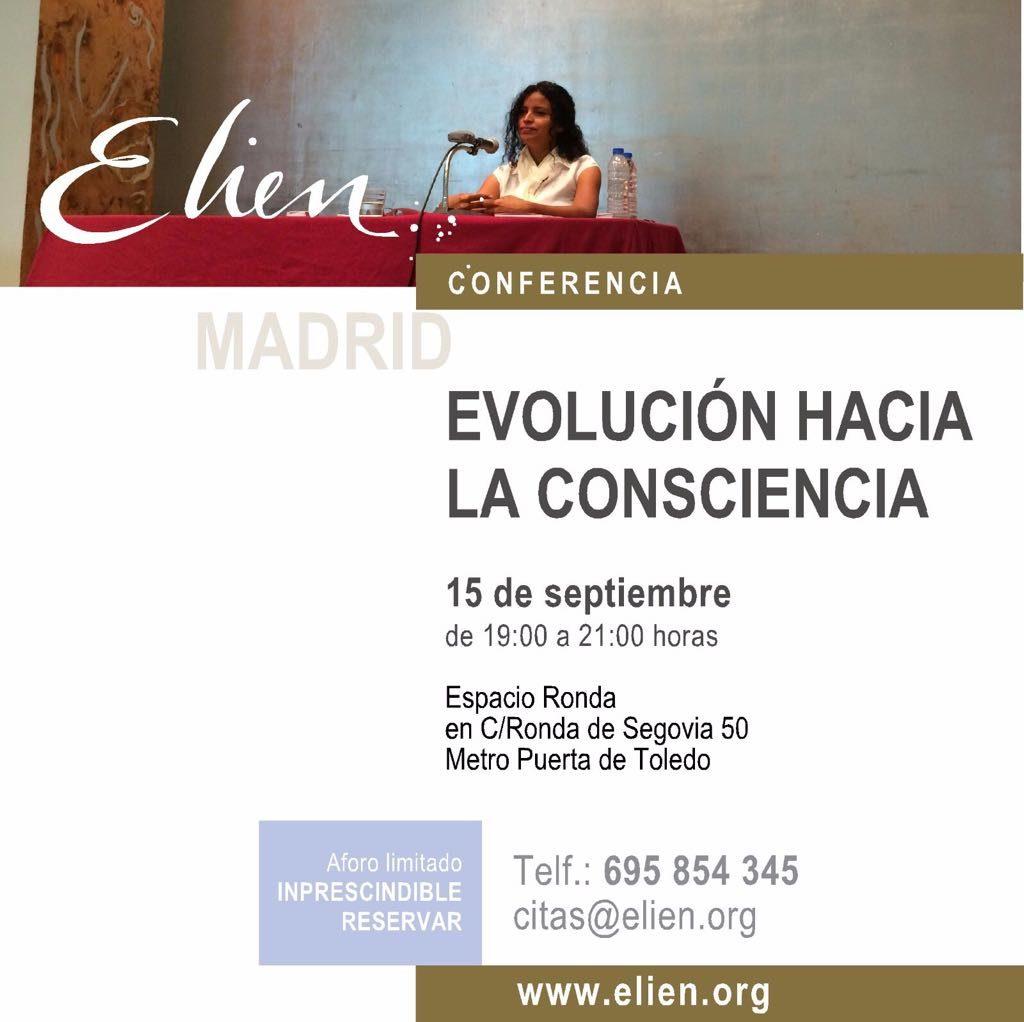 """Conferencia """"Evolución hacia la Consciencia"""" con Elien"""