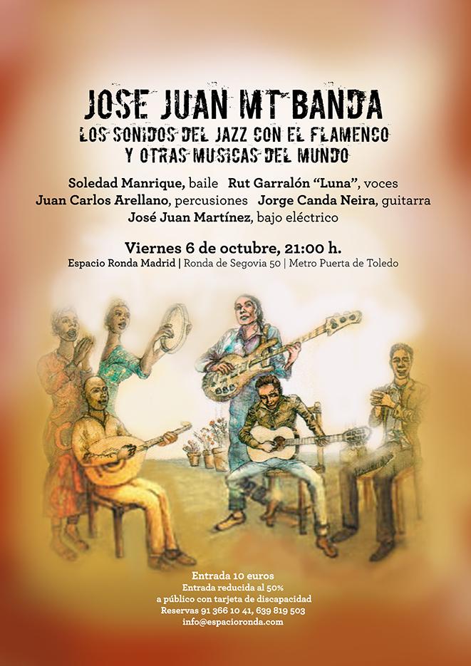 """""""José Juan MT Banda"""" los sonidos del Jazz con el Flamenco y otras músicas del mundo"""