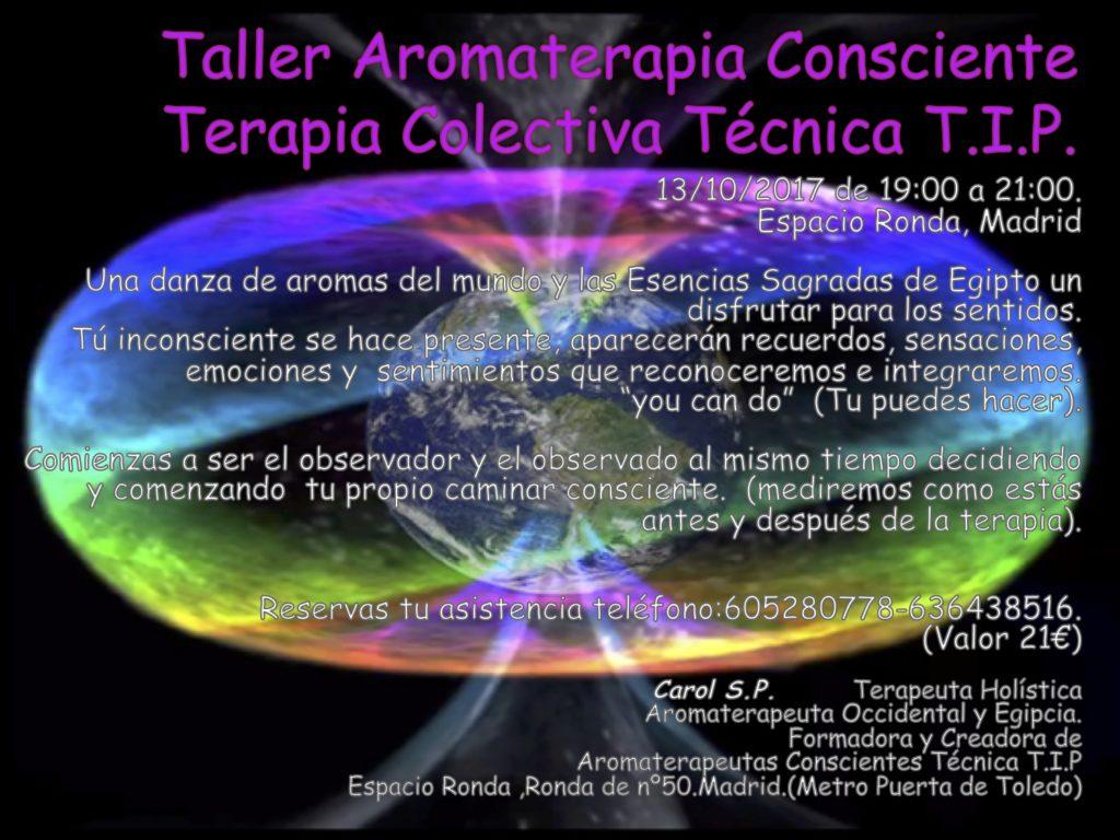 Taller Aromaterapia Consiente Terapia Colectiva Técnica T.I.P.