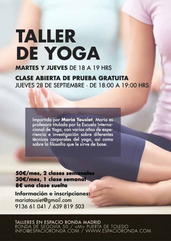 Taller de Yoga Clase de prueba gratuita