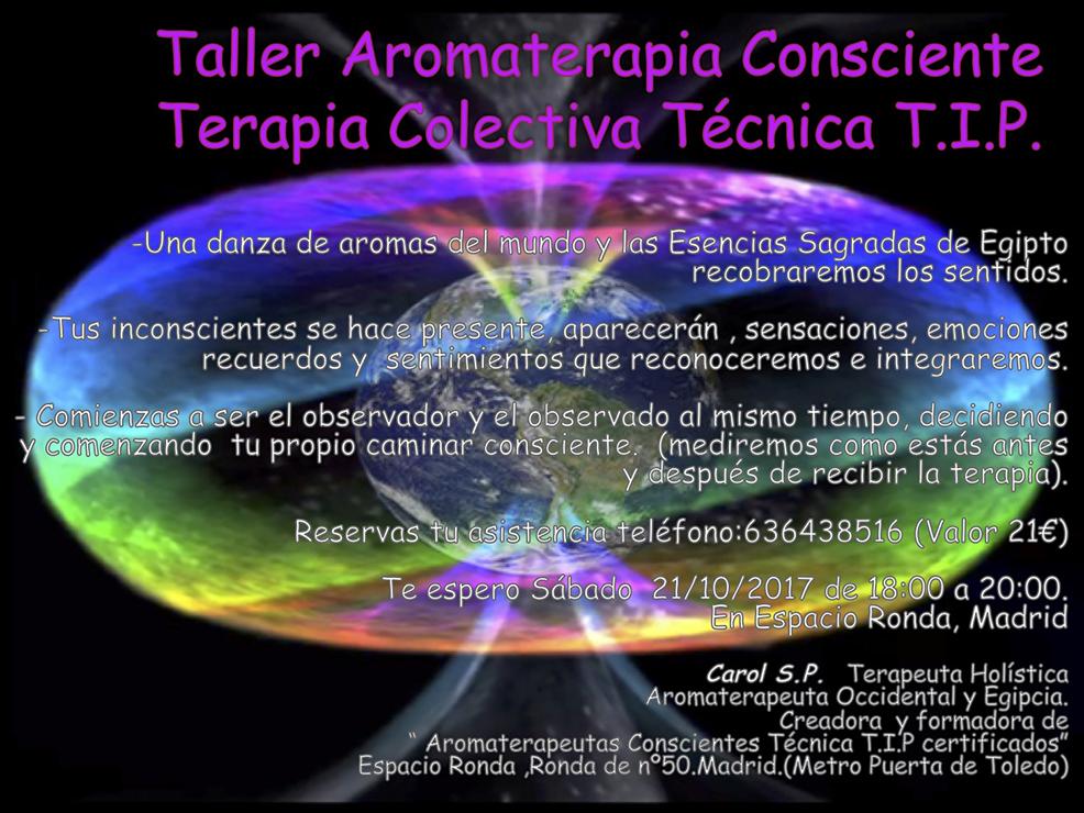 Taller Aromaterapia Consciente Terapia Colectiva Técnica T.I.P.