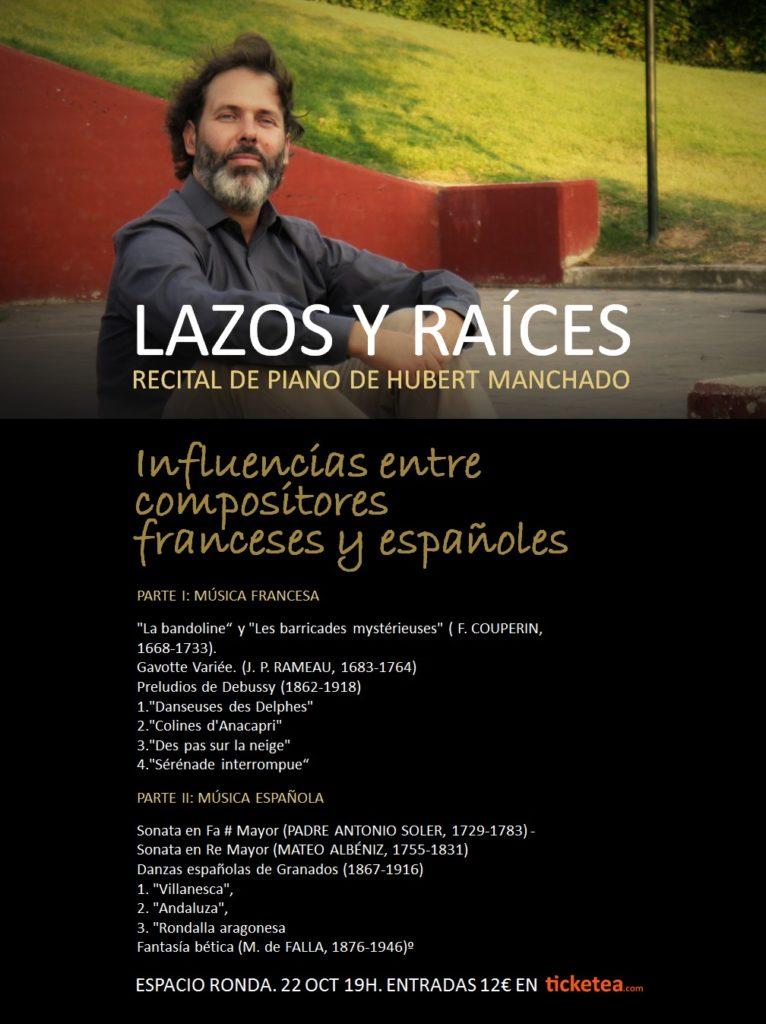 """""""Lazos y Raíces"""" recital de piano de Hubert Manchado"""