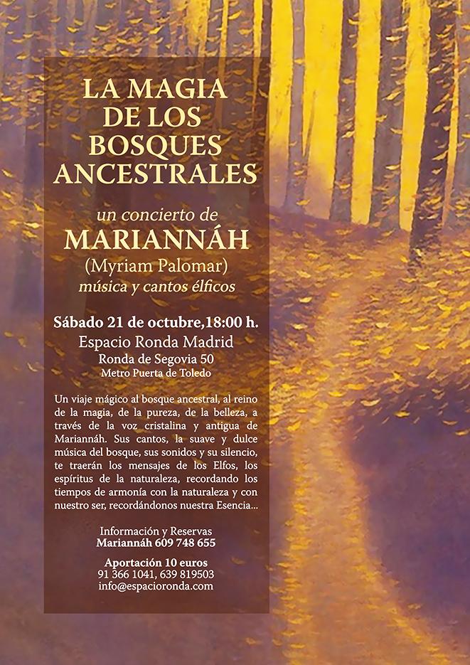 """""""La Magia de los Bosques Ancestrales"""" un concierto de Mariannáh"""