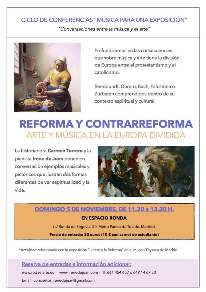 """Ciclo de Conferencias """"Música para una Exposición"""" Reforma y contrarreforma"""