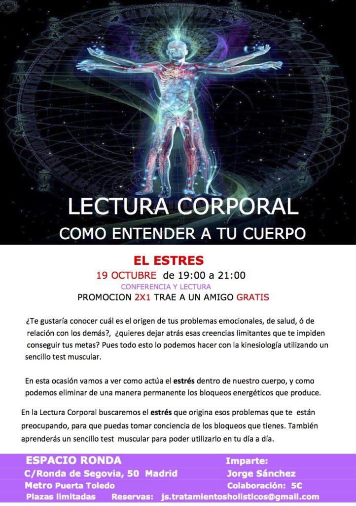 """Conferencia """"Lectura corporal"""" cómo entender a tu cuerpo"""