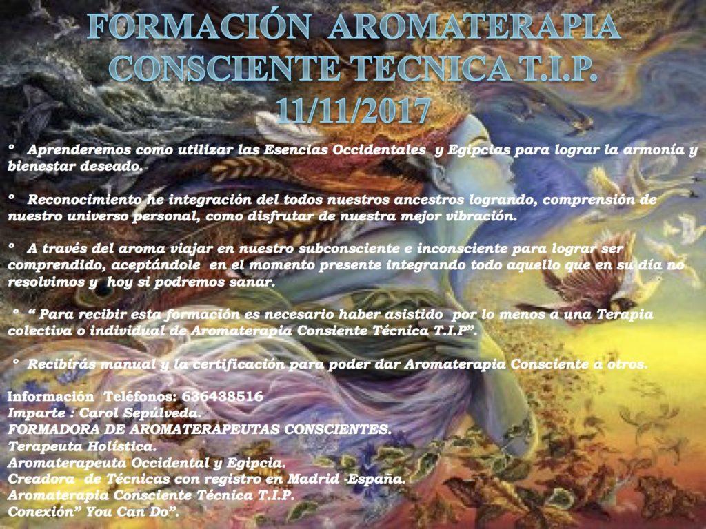 Formación Aromaterapia Consciente Tecnica T.I.P.
