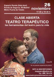 Clase abierta de Teatro Terapéutico