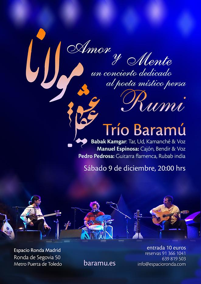 """""""Amor y Mente"""" un concierto dedicado al poeta místico persa RUMI"""
