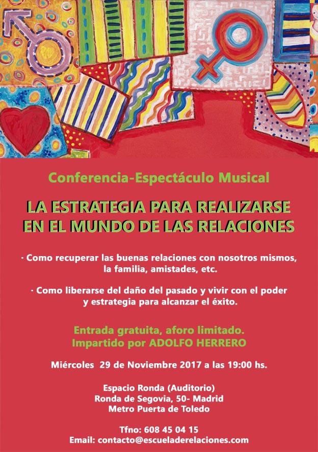 """Conferencia - Espectáculo Musical """"La estrategia para realizarse en el mundo de las relaciones"""""""