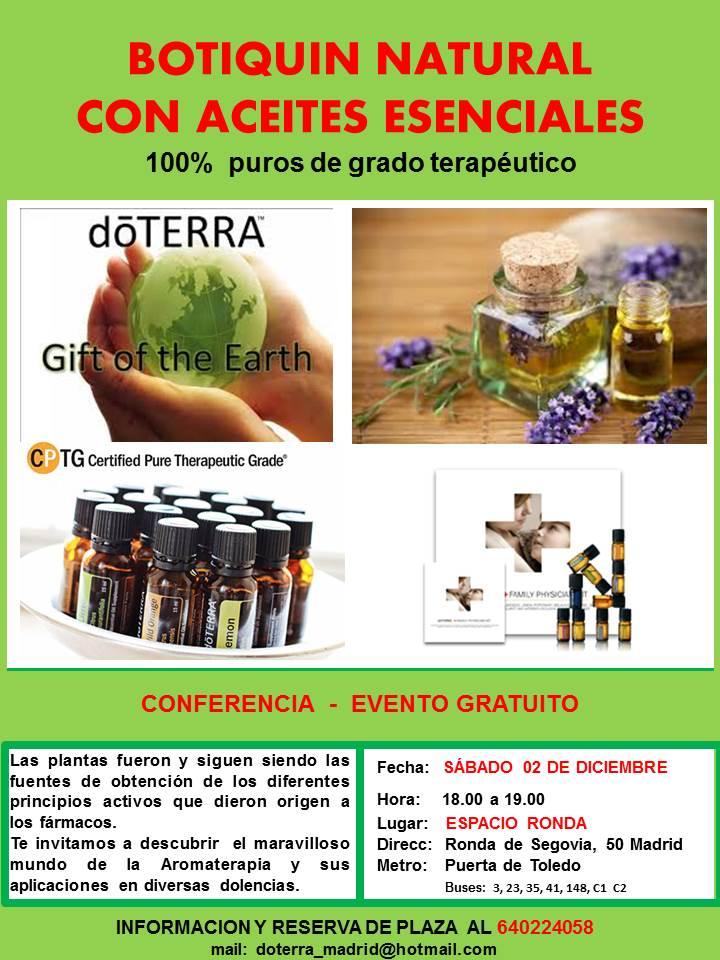"""Conferencia gratuita """"Botiquín natural con aceites esenciales"""""""