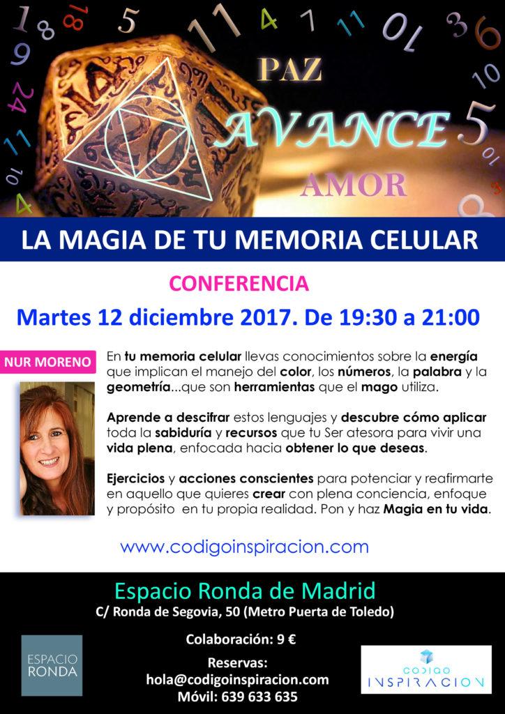 "Conferencia ""La Magia de tu Memoria Celular"""