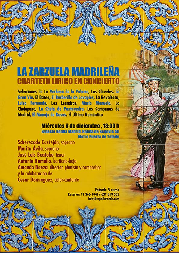 """El cuarteto Lírico presenta """"La Zarzuela Madrileña"""""""