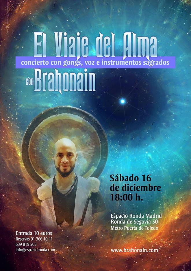 """""""El Viaje del Alma"""" Concierto con gongs, voz e instrumentos sagrados con Brahonain"""