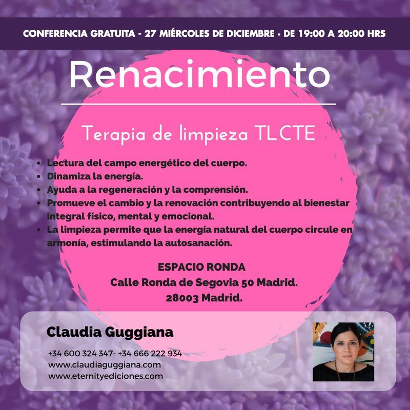 """Conferencia gratuita """"Renacimiento"""" con Claudia Guggiana"""