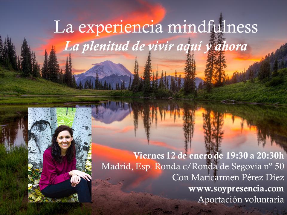 """La experiencia mindfulness """"La plenitud de vivir aquí y ahora"""""""