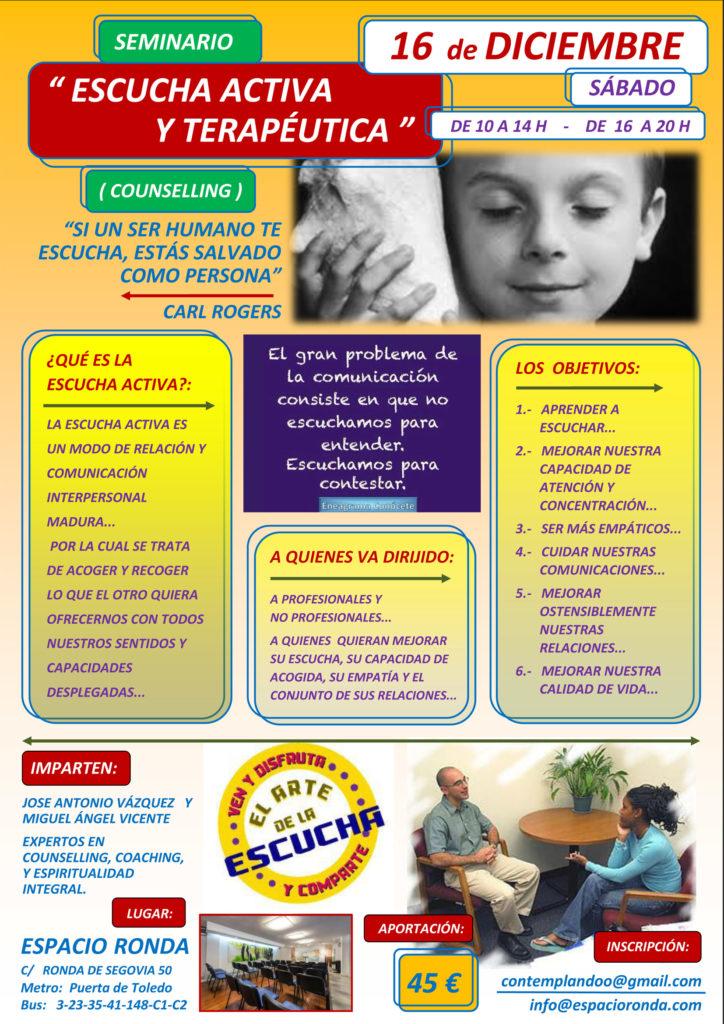 """Seminario """"Escucha Activa y Terapéutica"""""""