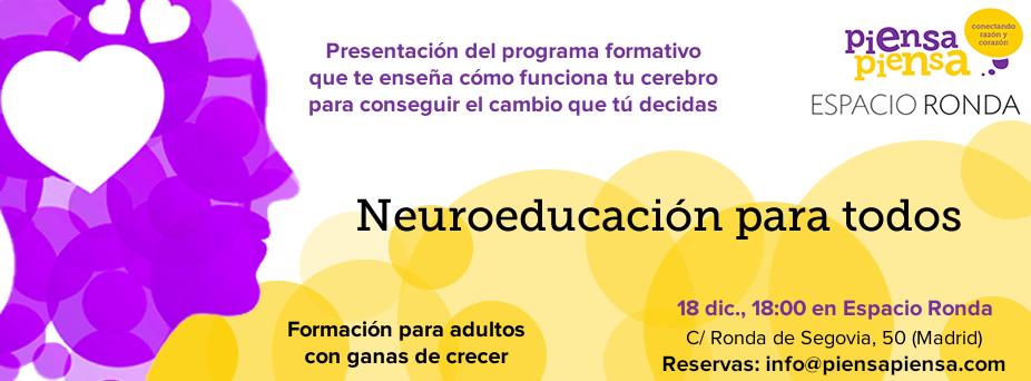 "Charla-taller presentación del curso ""Neuroeducación para todos"""