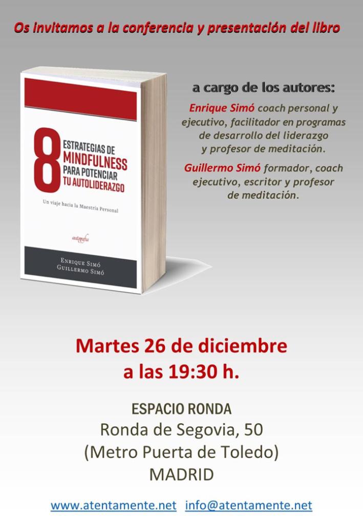 """Presentación del libro: """"8 estrategias de mindfulness para potenciar tu autoliderazgo"""""""