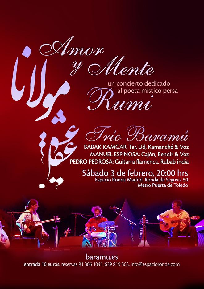 Un concierto dedicado al poeta místico persa RUMI con el Trío Baramú