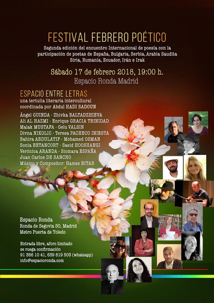 """""""Espacio entre Letras"""" Tertulia literaria Intercultural en Espacio Ronda"""